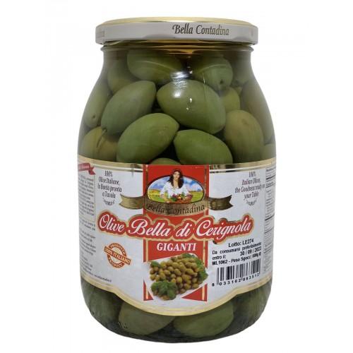 Оливки гиганты Olive Bella di Cerignola 1kg